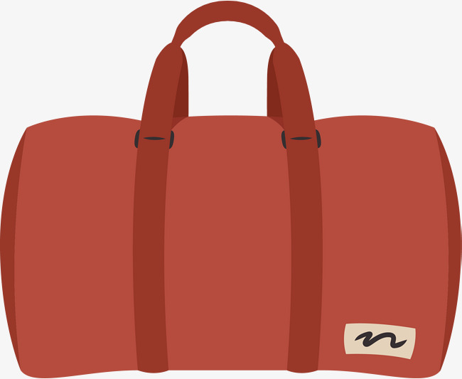 650x533 Red Travel Bag Vector Diagram, Bag, Cartoon Bag, Luggage And Bags