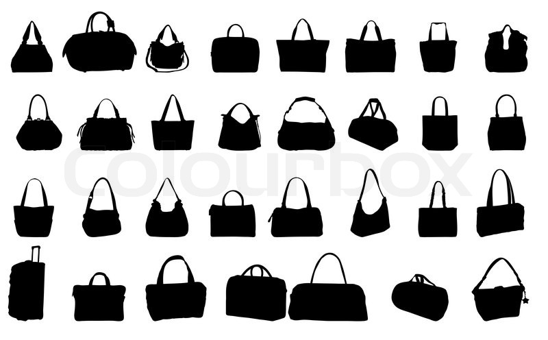 800x496 Silhouette Bag Vector Illustration Stock Vector Colourbox