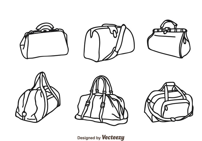 700x490 Vector Bag Isolated Icons 110293