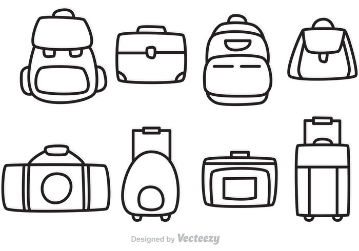 700x490 Vector Bag Outline Icons 112565