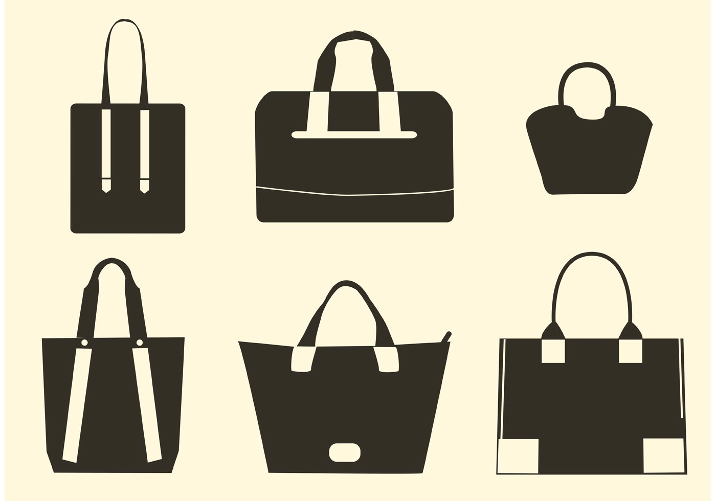 1400x980 Vector Hand Bag Silhouettes