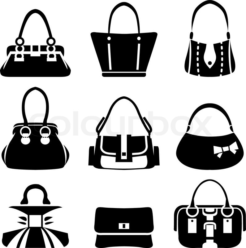 795x800 Vector Icons Of Female Bags Stock Vector Colourbox