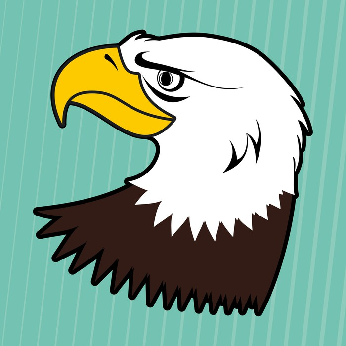700x700 American Bald Eagle Vector Wall Mural We Live To Change