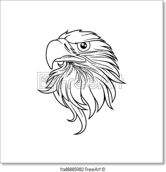 561x581 Free Art Print Of Eagle Head Logo Template, Hawk Mascot Graphic