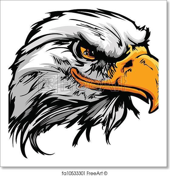 561x581 Free Art Print Of Graphic Head Of A Bald Eagle Mascot Vector