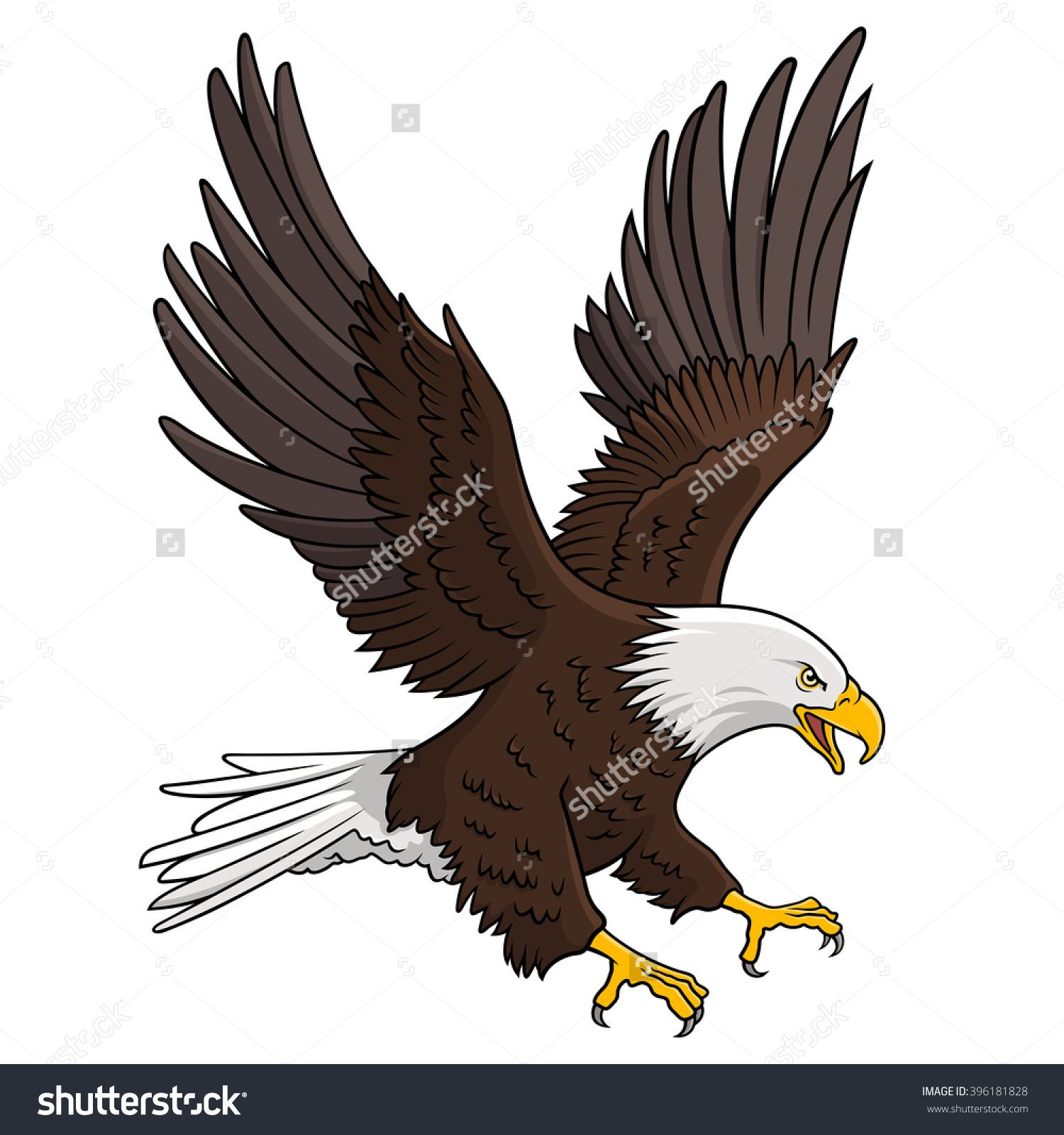 1500x1600 Bald Eagle Isolated On White. This Vector Illustration Can Be Used