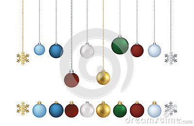400x260 Vector Colored Balls With Chain Isolated On White Background Eps