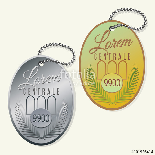 500x500 Key Ring Fob With Ball Chain Vector Design Stock Image And