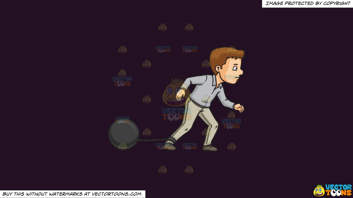 1152x648 Ball And Chain On A Solid Purple Rasin 241023 Background Cartoon
