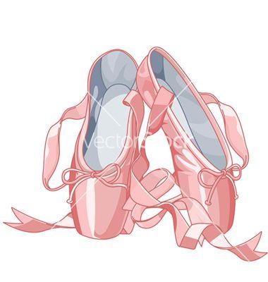 380x400 Ballet Slippers Vector Art