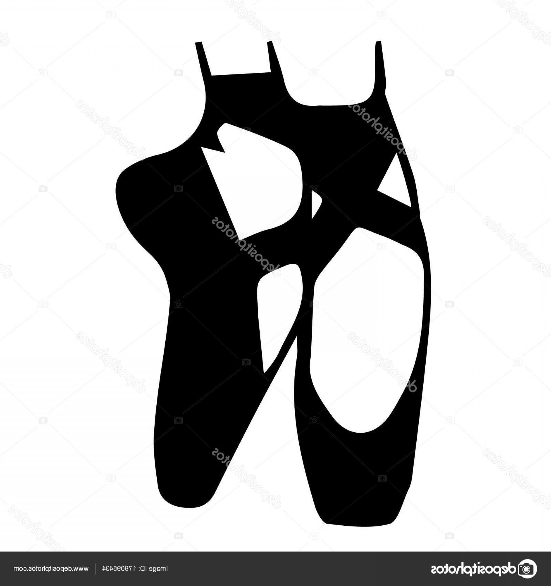 1920x2040 Stock Illustration Silhouette Of Ballet Shoes Vector Shopatcloth