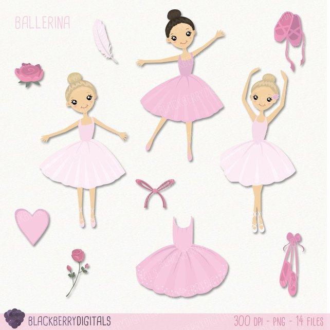 642x642 Ballet Clipart Set Ballerina Clip Art Ballet Clipart Dancer Etsy