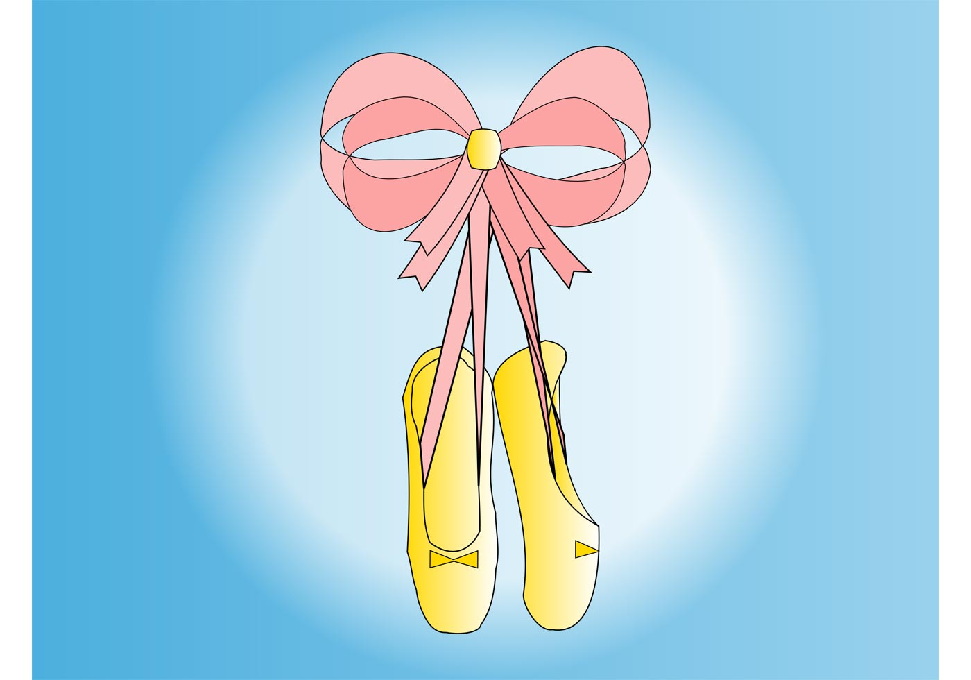 1400x980 Ballet Shoe Free Vector Art