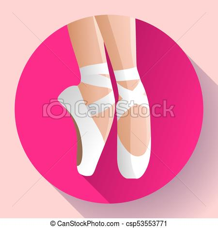 450x470 White Ballet Pointe Shoes Flat Vector Illustration Of Gym Ballet