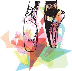 300x295 Ballet Shoes Royalty Free Vectors