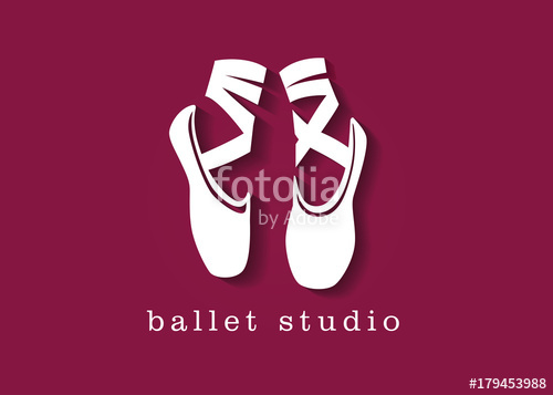 500x357 Ballet Shoes Studio Logo Illustration Stock Image And Royalty