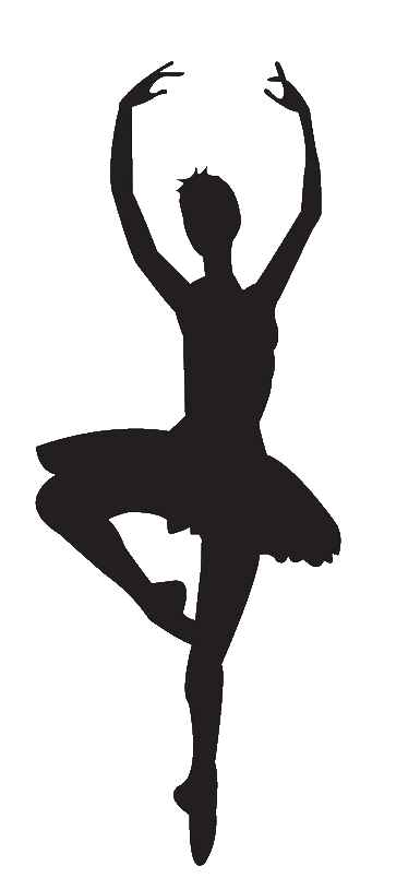 363x804 Ballet Dancer Vector Clipart