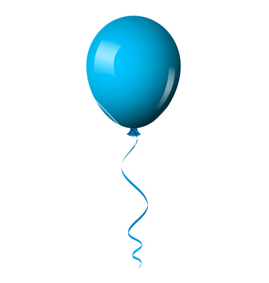 380x400 Blue Balloon Vector Art Clipart Panda Free Images Clipart