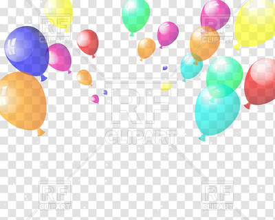 400x320 Checkered Background With Colorful Balloons Vector Image Vector