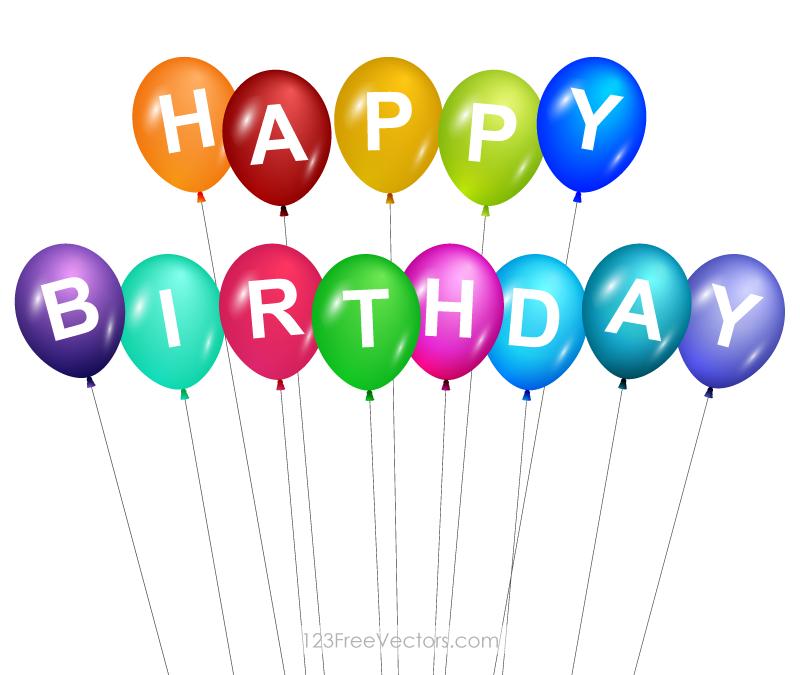 800x675 Birthday Balloons Vectors Download Free Vector Art