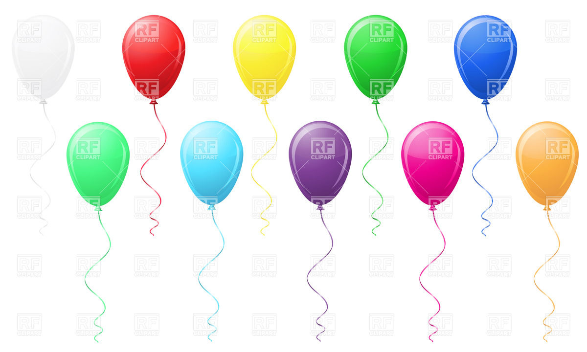 1200x720 Colored Balloons Vector Image Vector Artwork Of Objects
