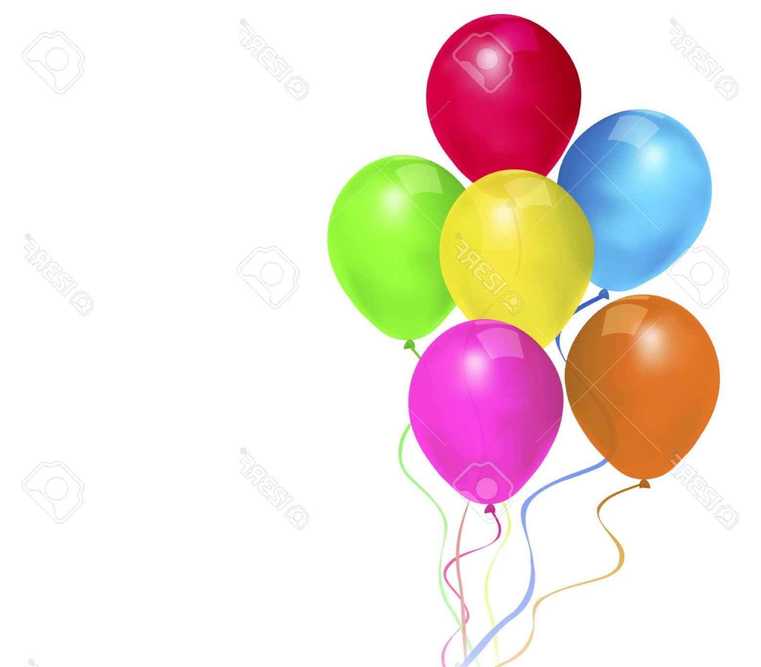 1560x1368 Photostock Vector Festive Balloons Vector Art Illustration Of A