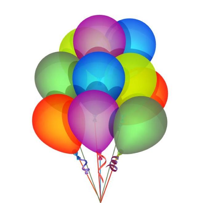 660x660 Birthday Balloons Vector