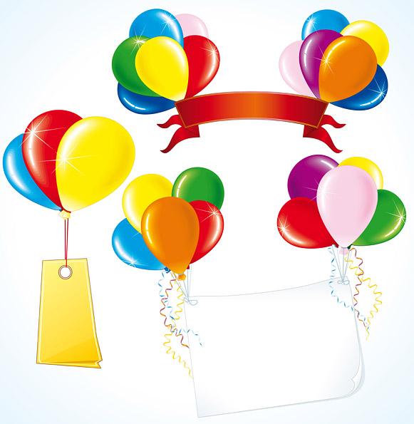 581x595 Vector Festive Balloon Free Vector 4vector
