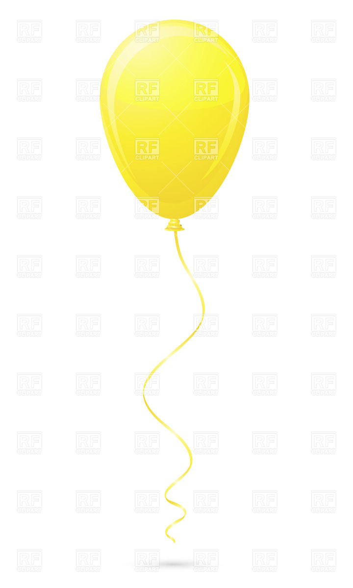 720x1200 Yellow Balloon Vector Image Vector Artwork Of Objects