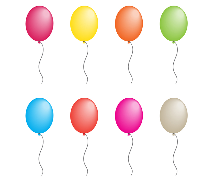 700x583 Balloon Vector With 8 Colors By Elemis