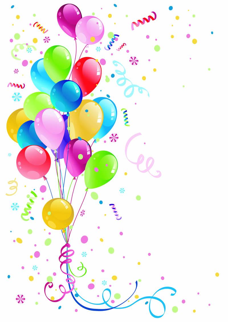 800x1131 Beautifully Colored Balloons 03 Vector Free Vector 4vector