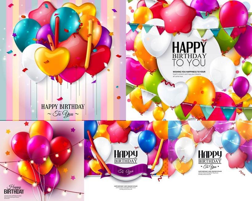 820x656 Birthday Celebration Balloon Vector Free Download Eps Files