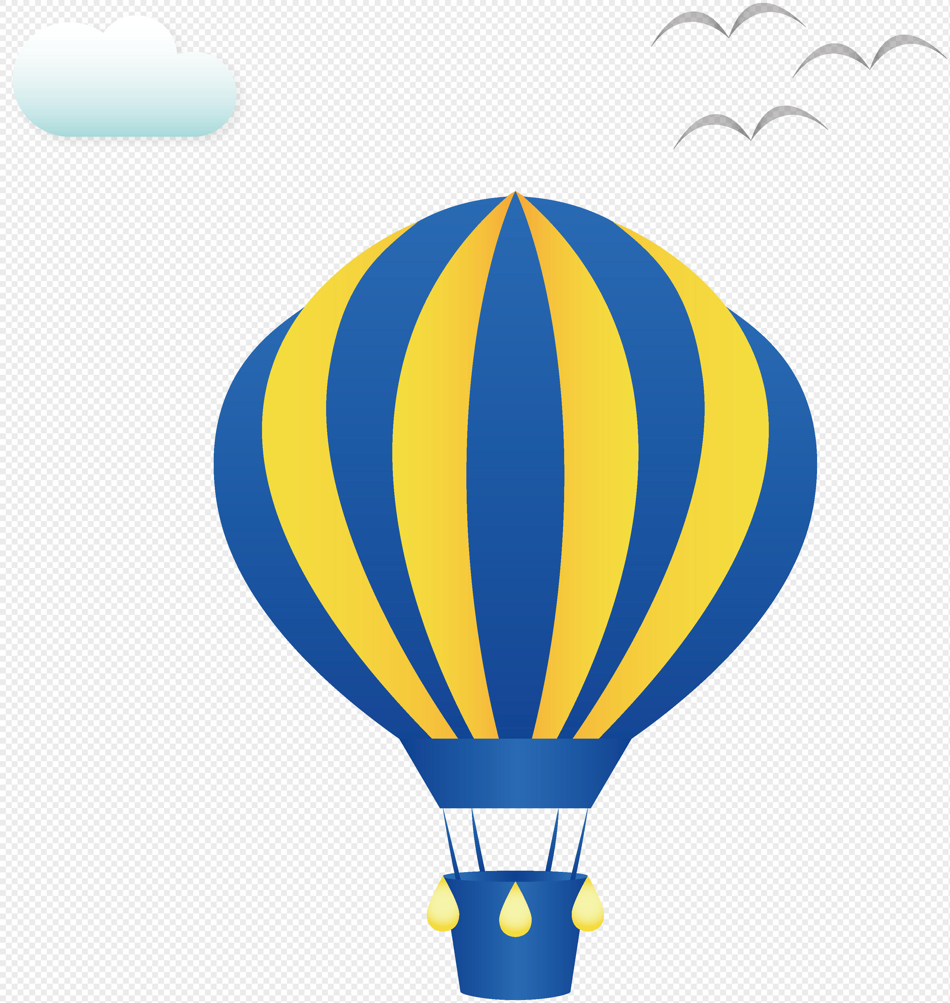 3245x3426 Cartoon Hot Balloon Vector Material Png Image Picture Free