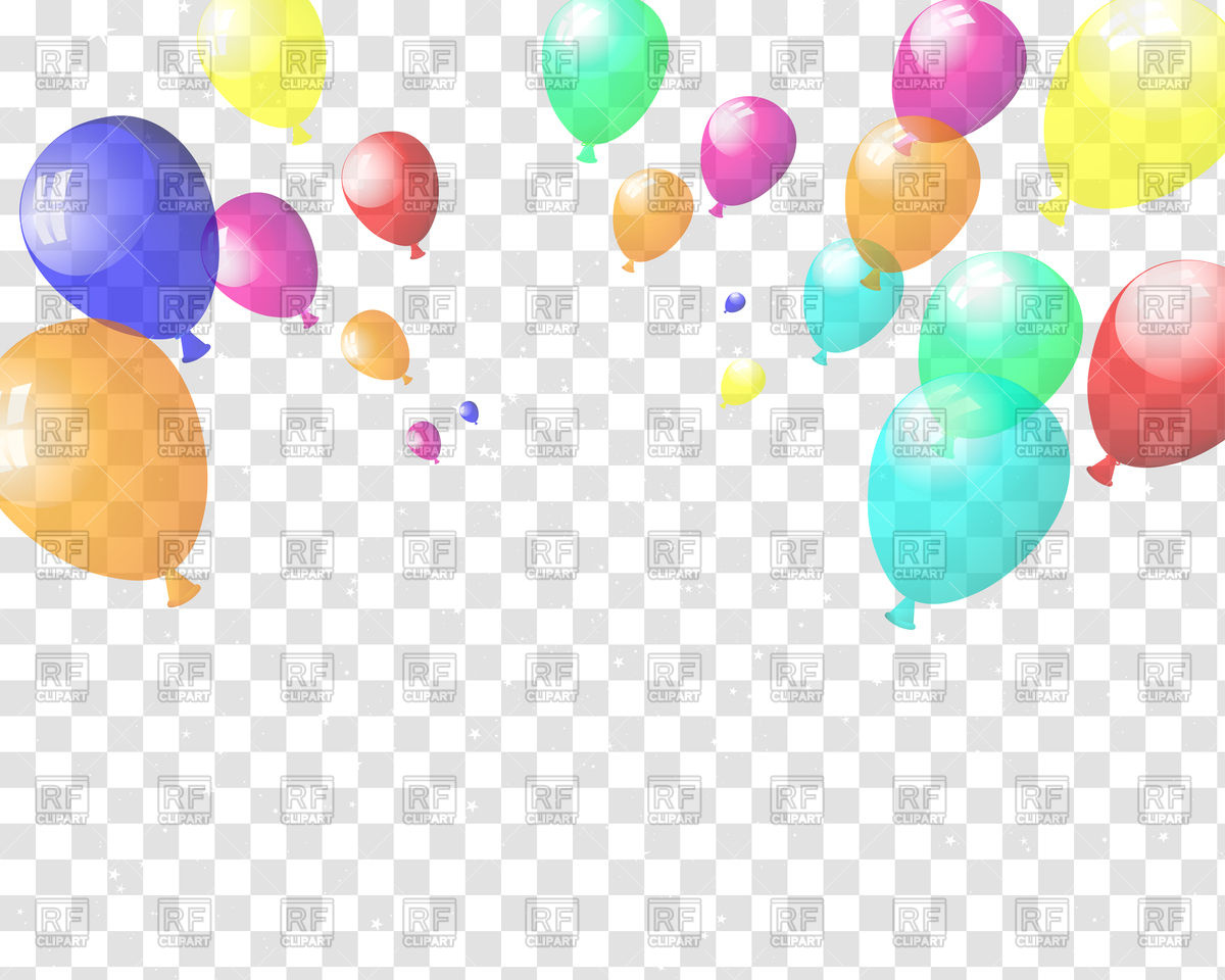 1200x960 Checkered Background With Colorful Balloons Vector Image Vector