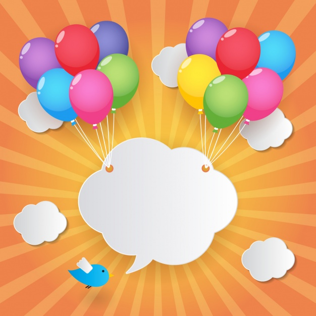 626x626 Cloud Held By Balloons Vector Free Download