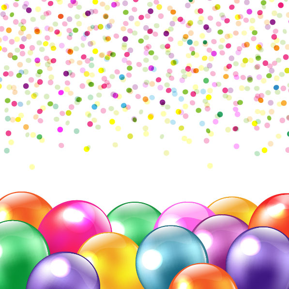 597x596 Colored Balloons Vector 2 Vector Sources