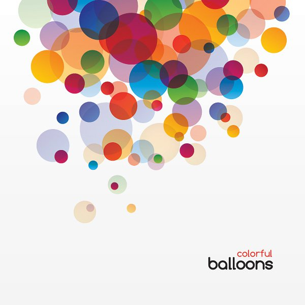 600x600 Colorful Balloons Vector Graphic Vector Free Vector Download In