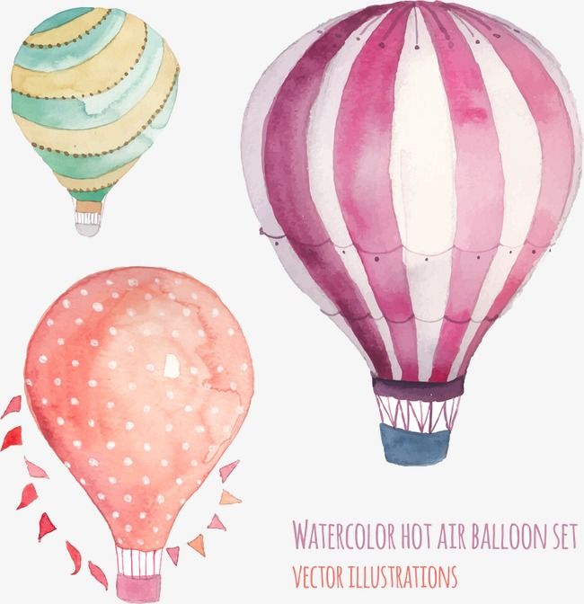 650x672 Hot Air Balloon Vector, Cartoon, Hand Painted, Hot Air Balloon Png