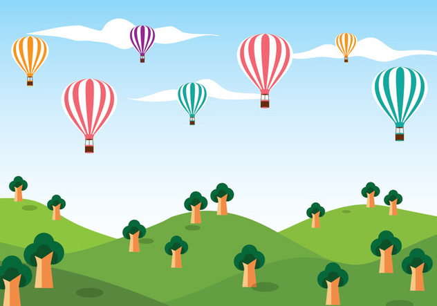 632x443 Hot Air Balloon Vector Background Free Vector Download 439615