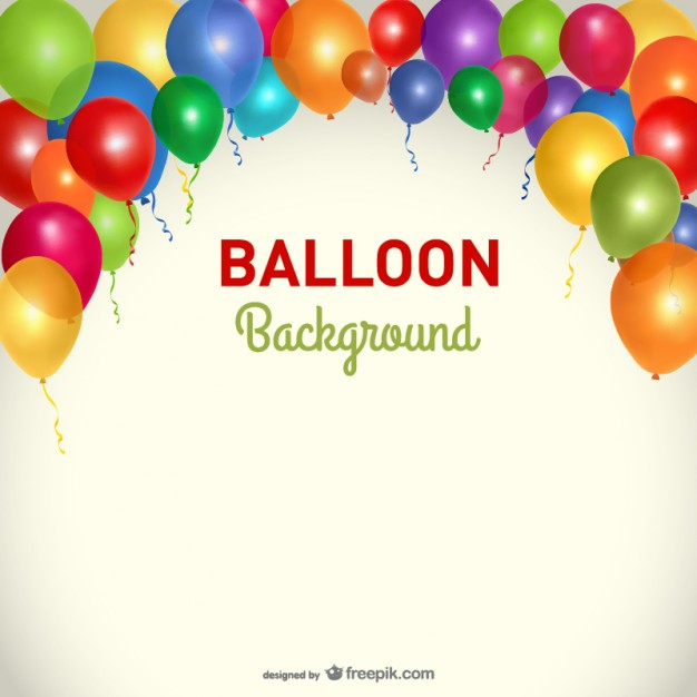626x626 Party Background Balloons Template Vector Free Download
