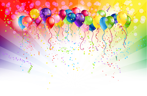 500x328 Shiny Color Balloons Vector 02 Free Download