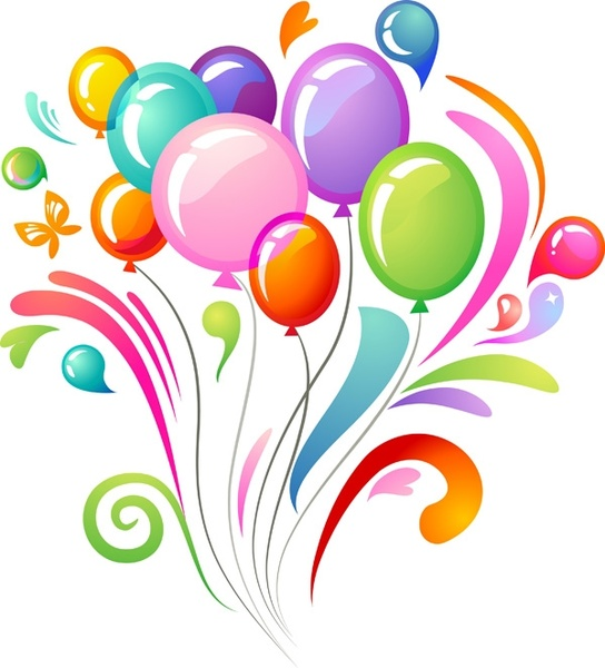 544x600 Free Images Balloons Vector Multicolored Balloons Free Vector In