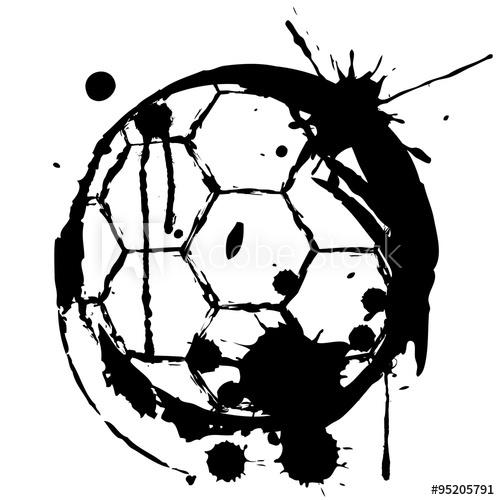 500x500 Logotipo Balon Con Manchas En Blanco Y Negro