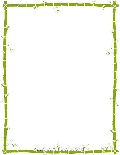 470x608 Bamboo Border Clip Art Bamboo Border Clip Art