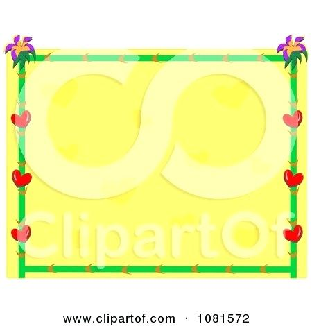 450x470 Bamboo Border Clip Art Heart Flower And Bamboo Frame With Yellow