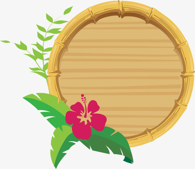 650x563 Flowers And Bamboo Frame Vector, Bamboo Vector, Frame Vector