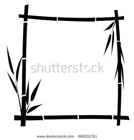 450x470 Bamboo Frame Bamboo Frame On White Background Vector Bamboo Framed
