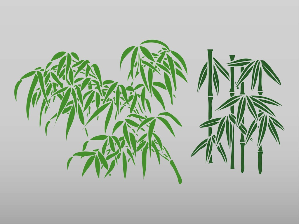 1024x768 Bamboo Leaves