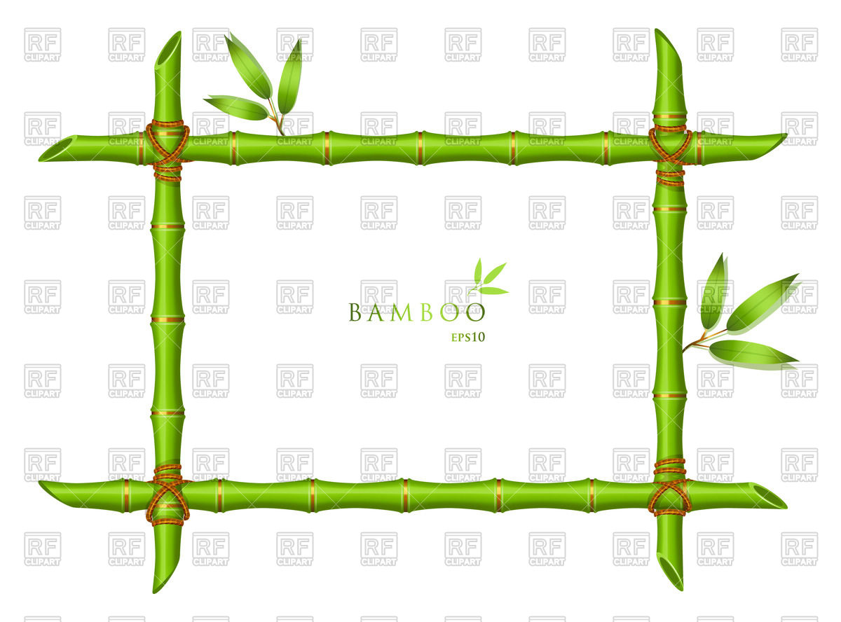 1200x888 Bamboo Green Frame With Leaves Vector Image Vector Artwork Of