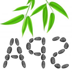 300x300 Lettering Spa With Bamboo Leaves Vector Sohadacouri